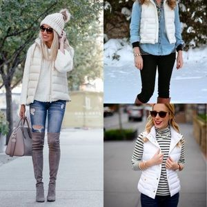 Michael Kors White Quilted Vest XL